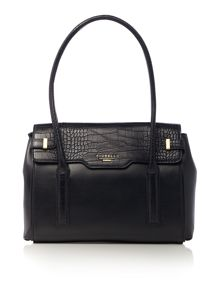 Fiorelli Deacon medium black flap over tote bag