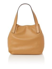 Mila tan tote bag