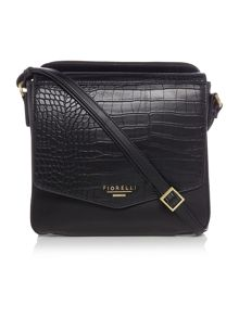 Fiorelli Taylor black medium flap over cross body bag