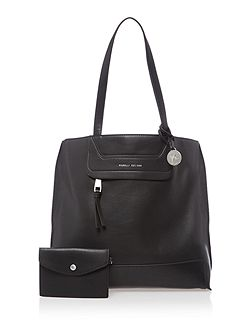 Tristen black medium tote bag