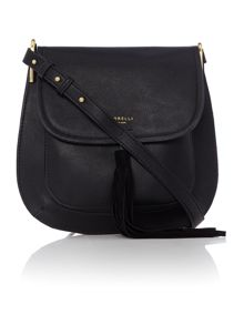 Fiorelli Nikita black medium flap over cross body bag