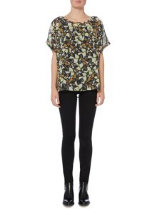 Label Lab Butterfly print blouse