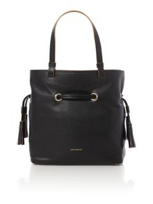 Jessie black tote bag
