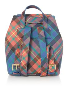 Vivienne Westwood Derby multi tartan backpack