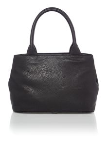 Vivienne Westwood Bow small black grab tote bag