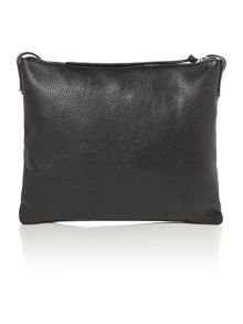 Mila black medium cross body bag