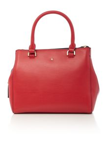 Mia red medium grab tote bag