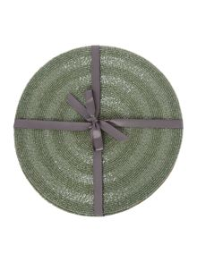Linea Green Halo Placemat Set Of 2