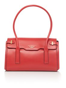 Fletcher red medium tote bag