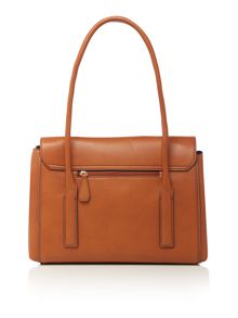 Deacon tan medium flap over tote bag