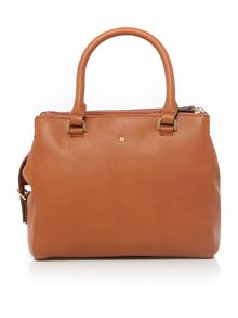 Mia tan medium grab tote bag