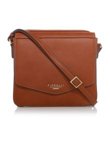 Taylor tan medium flap over cross body bag