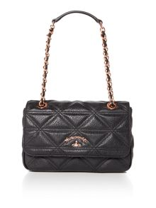 Vivienne Westwood Sharlenemania black small flap over shoulder bag
