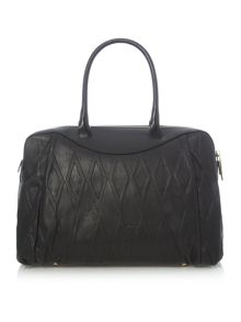 Vivienne Westwood Diamond orb black grab tote bag