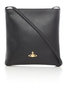 Vivienne Westwood Saffiano black cross body bag