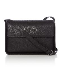Vivienne Westwood Melomania black flap over cross body bag
