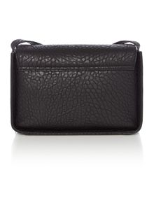 Melomania black flap over cross body bag