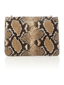 Multi-coloured python mini cross body bag