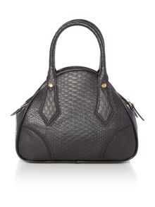Vivienne Westwood Frilly snake black small dome bag