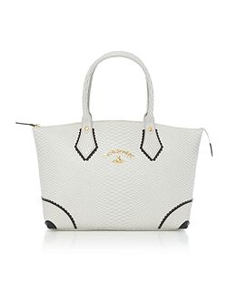 Frilly snake grey tote bag