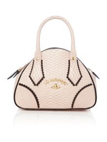 Vivienne Westwood Frilly snake pink small dome bag