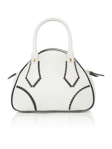 Vivienne Westwood Frilly snake grey small dome bag