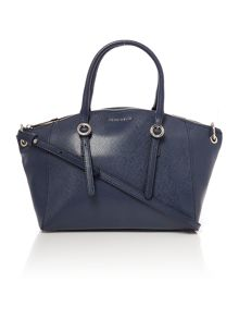 Mel navy satchel bag