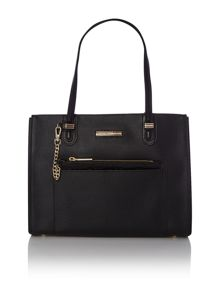 Amelie black medium tote bag