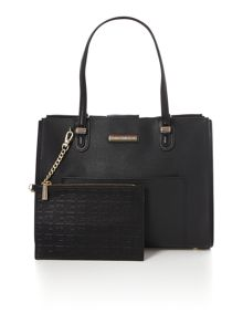 Tommy Hilfiger Amelie black medium tote bag