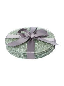 Linea Green Halo Coaster Set Of 4