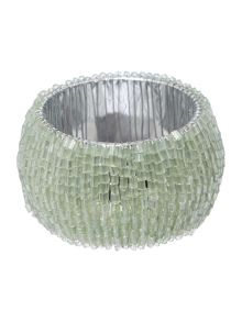 Linea Green Halo Napkin Ring Set Of 4