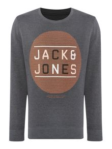 Jack & Jones Graphic Crew Neck Pull Over Jumper