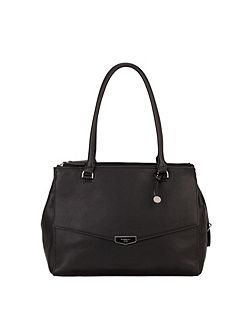 Harper black medium shoulder tote bag