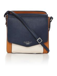 Taylor multi coloured medium cross body bag