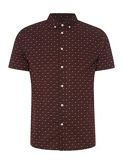 Criminal Sorrel Mini Geo Short Sleeve Shirt