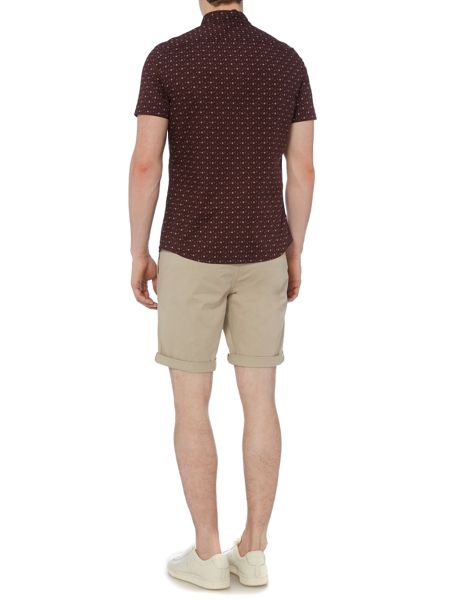 Criminal Criminal Sorrel Mini Geo Short Sleeve Shirt