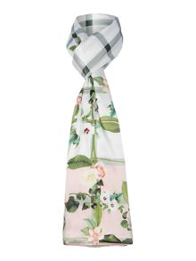 Ted Baker Ally secret trellis check long silk scarf