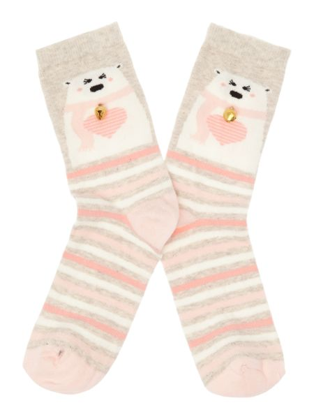 Therapy Polar bear with bell ankle sock