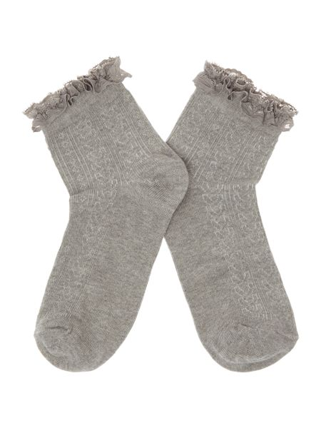 Therapy Lace trim ankle sock