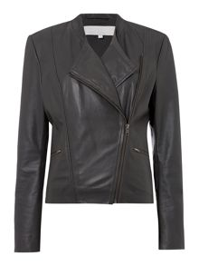 Lara leather biker jacket