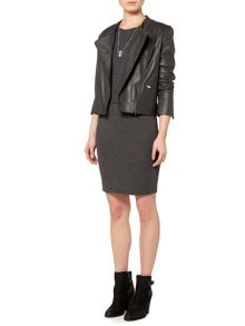 Gray & Willow Lara leather biker jacket