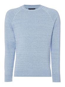 Criminal Criminal Egan Space Dye Crew Neck Jumper