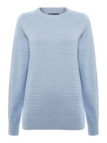 Criminal Egan Space Dye Crew Neck Jumper