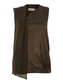 Label Lab Fabric mix sleeveless top