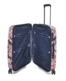 Cherry blossom dog 4 wheel medium hard suitcase