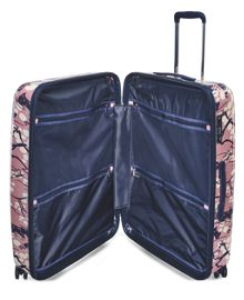 Cherry blossom dog 4 wheel large suitcase