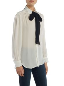 Eloise long sleeve silk shirt