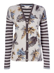 BRAINTREE Button up multi print cardigan