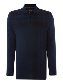 Barbour Tartan all over check long sleeve polo
