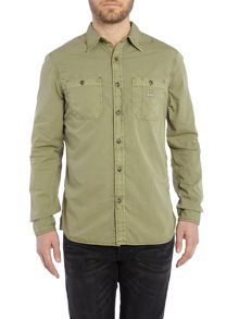 Denim and Supply Ralph Lauren Garment Dyed 2 Pocket Shirt